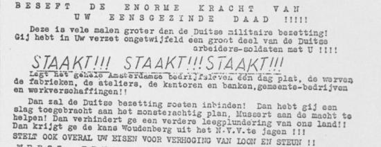 Februaristaking vandaag 80 jaar geleden (Foto: Nationaal Archief)