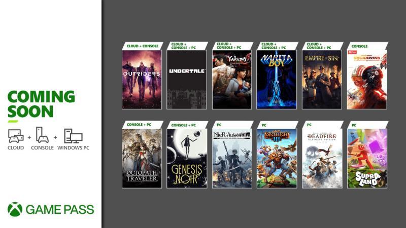 Xbox Game Pass maart 2021