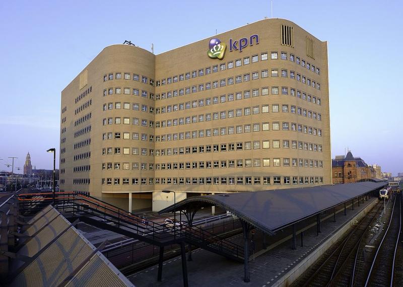 Het KPN-gebouw in Groningen (WikiCommons/Hardscarf)
