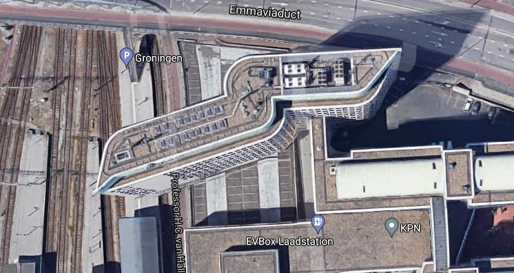 Het KPN-gebouw in Groningen (Google Maps)