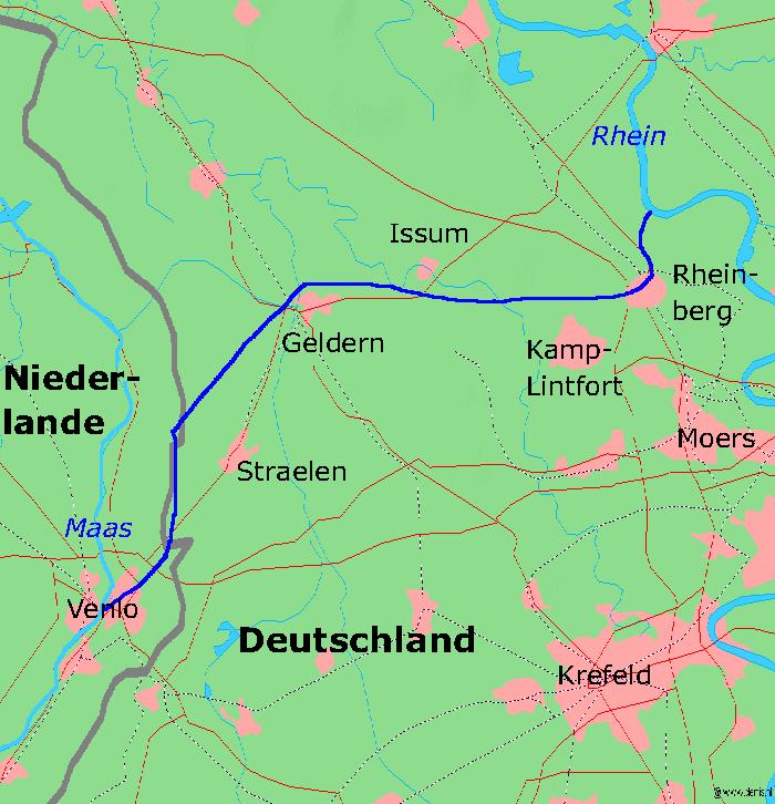 Geplande loop van het kanaal (WikiCommons/Markus Schweiß at German Wikipedia)
