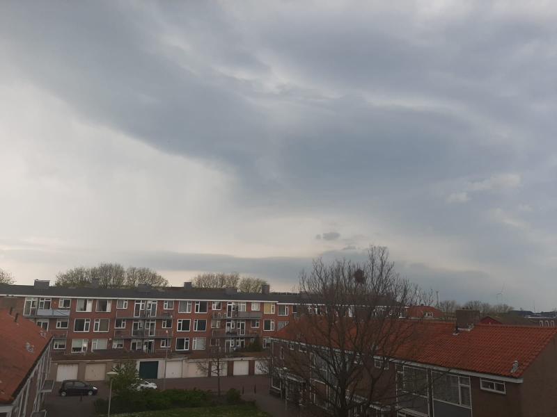 Onweer vanaf het balkon (Foto: vriend)