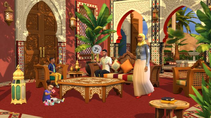 De Sims 4: Binnenplaats Oase Kit
