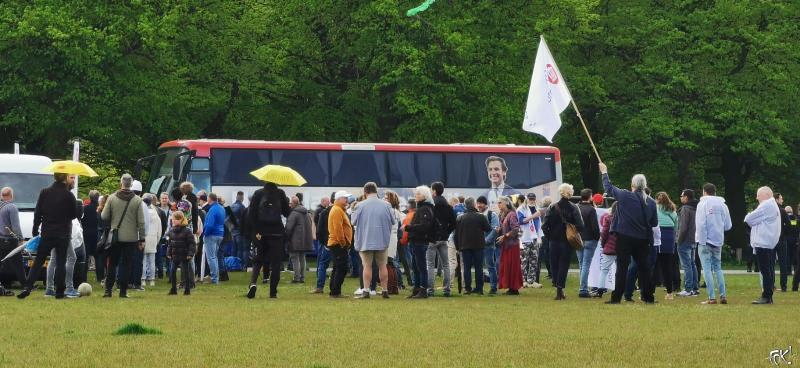Baudet arriveert op het Malieveld (Foto: DJMO)