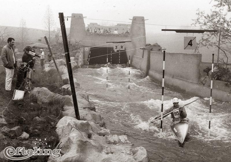 Het Nederlands Kampioenschap Kanoslalom op de Piraña in 1983 (Bron: Eftepedia)