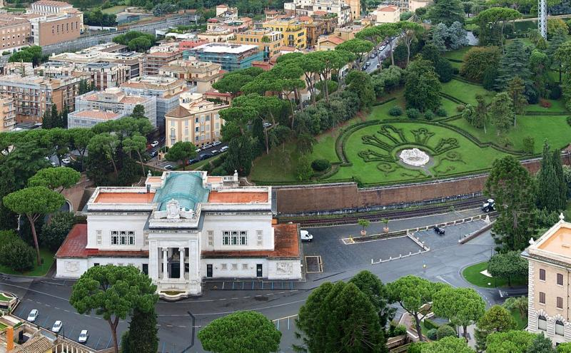 Het station van Vaticaanstad (WikiCommons/Staselnik)