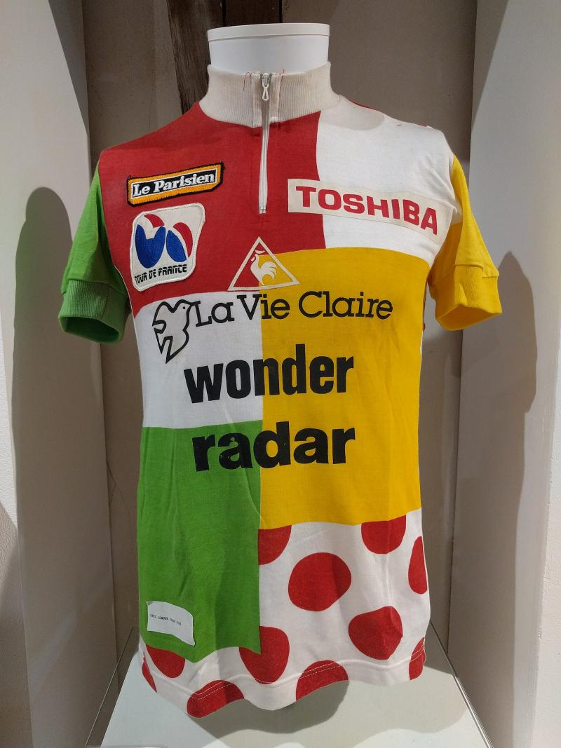 De lapjestrui, deze was van Greg LeMond (WikiCommons/Miguelazo84)