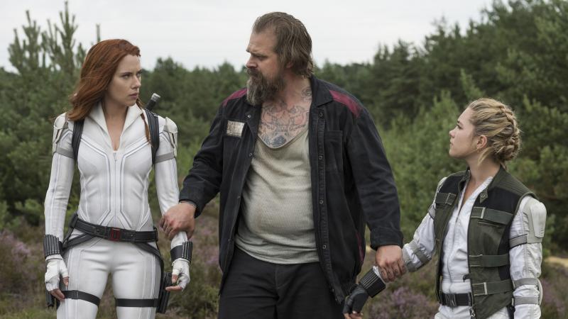 Black Widow: Scarlett Johannson, David Harbour en Florence Pugh