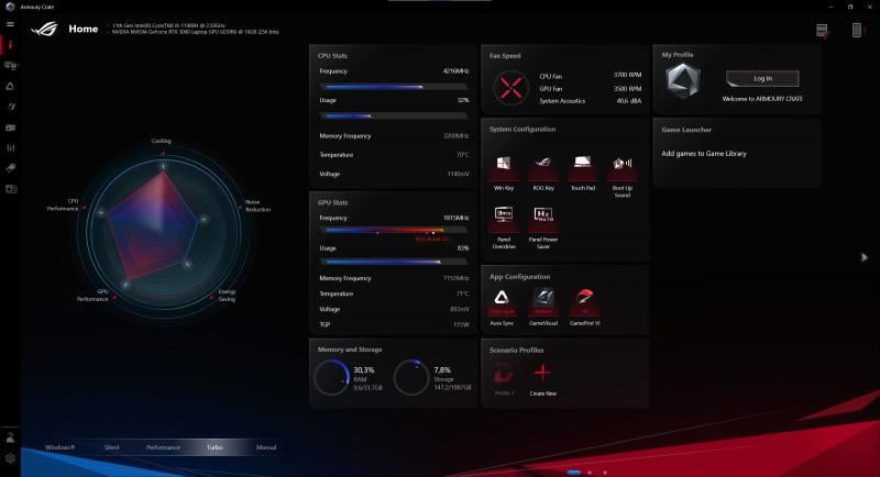 Asus Armoury Crate - Zephyrus S17 (Foto: Asus)
