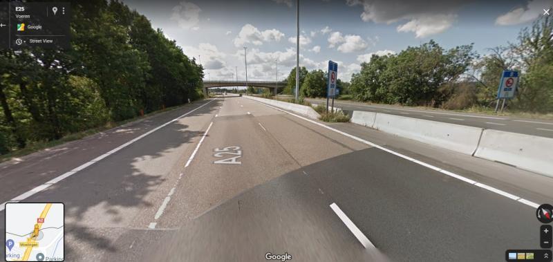 De grens tussen Nederland en Vlaanderen (Bron: Google Maps)