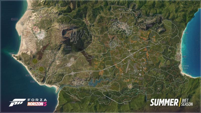 Forza Horizon 5 full map