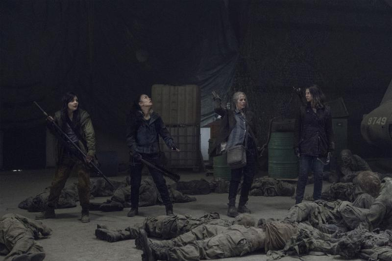 The Walking Dead: Lauren Cohan, Melissa McBride, Cassady McClincy en Christian Serratos