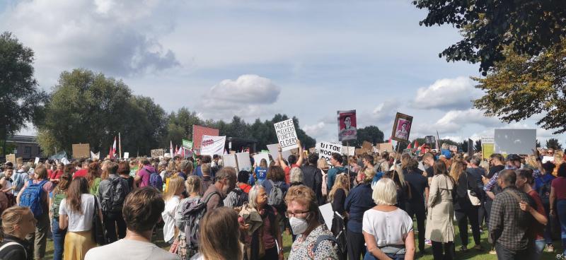 Woonprotest Westerpark Amsterdam 2021 (Foto: FOK!/DJMO)