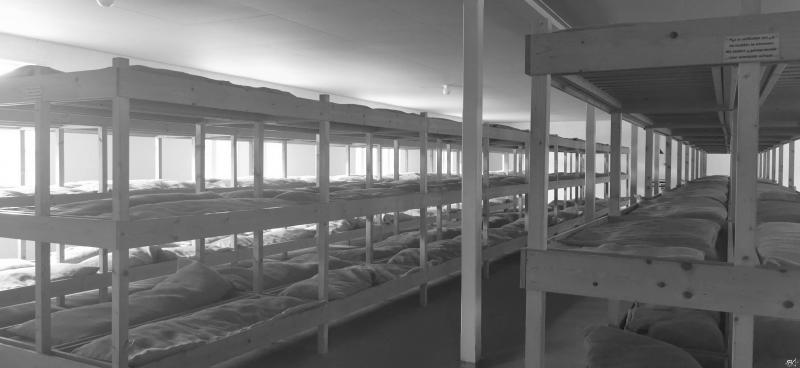 Kamp Vught (reconstructie bedden in barak( (Foto: FOK!/DJMO)