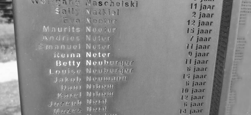 Kamp Vught (Detail Monument der Verloren Kinderen)  (Foto: FOK!/DJMO)