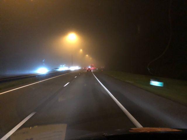 Mist op de snelweg (Foto: Charged)