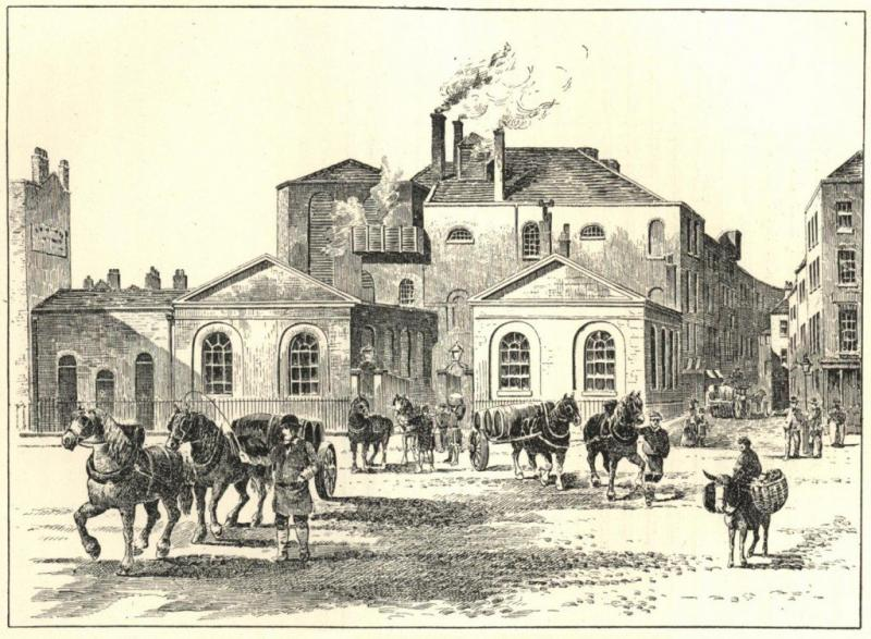 Horseshoe Brewery in betere tijden rond 1800 (WikiCommons/Brewers' Journal, 15 February 1906)