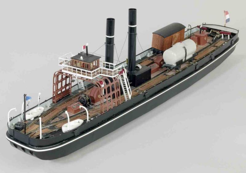 Model van de spoorboot die tussen Enkhuizen en Stavoren voer (WikiCommons/Modelspoormuseum)
